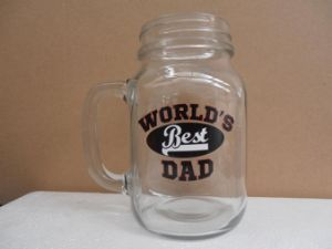 Printed Mason Jar with Handle