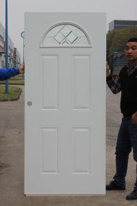 Half Moon Lite Glass Inserted Arch American Prehung Steel Door pictures & photos