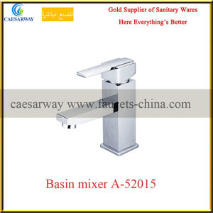 Brass Single Handle Sanitary Ware Chrome Bathroom Basin Water Mixer Faucet pictures & photos