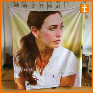 Dye Sublimation Print Polyester Fabric Banner with Silicon Edge pictures & photos