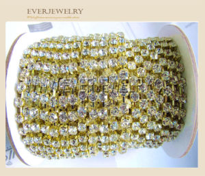 Fashion Wholesale Rhinestone Glass Crystal Cup Chain Muti-Color Rhinestone Cup Chain pictures & photos