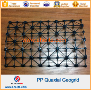 Polyester Pet Fiberglass Plastic Biaxial Geogrid pictures & photos