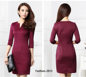 OEM 2015 New Arrival Fashion Winter Women Bodycon Dress pictures & photos