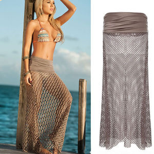 Women Sarong Mesh Hollow Crochet Swimwear Cover up Beach Dress pictures & photos