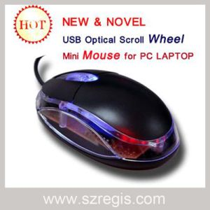 USB LED Wired Mice Scroll Wheel Mini Optical Computer Mouse pictures & photos
