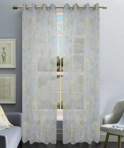 Printed Voile Grommet Panel Window Curtain (HR14WT056) pictures & photos