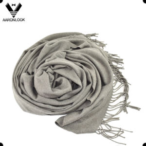 Women Solid Color Plain Checked Cotton Scarf Shawl Wrap pictures & photos