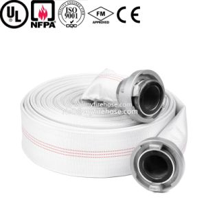 4 Inch Wear-Resisting Coated PVC Lined Fire Hose pictures & photos