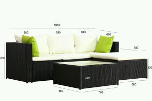 Most Popular Rattan Sofa Set with Table pictures & photos