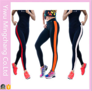 Hot Sale Sports Striped Side Stitching Color Yoga Cotton Pants pictures & photos