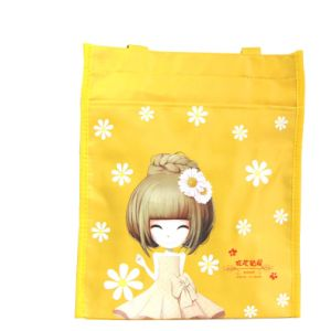 Bright Yellow Girl Style Polyester Tote Bag