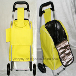 Lightweight 2 Wheels Foldable Shopping Trolley with Cooler Bag for Picnic and Shopping pictures & photos