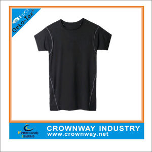 High Flexibility Gym Sports Running Compression Fitness T-Shirt for Men pictures & photos