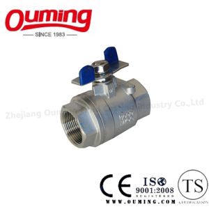 API Stainless Steel Ball Valve with Butterfly Handle pictures & photos