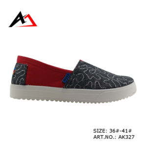Injection Shoes Top Quality Slip-on Canvas Boots for Women (AK327) pictures & photos