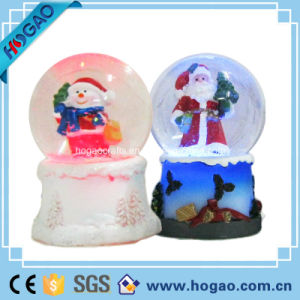 Winter Water Snow Globe Musical Santa Snowman White Christmas pictures & photos