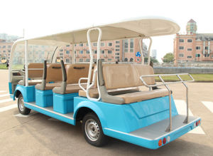 4-Wheel Drive Electric 14 People City Bus with Good Performance