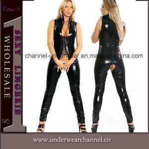 Plus Size Sexy Lady Vinyl Club Wear Lingerie Jumpsuit (TXX641) pictures & photos