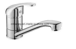 Hot Sale Deck Mounted Single Handle Sink Kitchen Faucet with Short Spout (H11-103M) pictures & photos