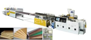 WPC Plastic Board Production/Extrusion/Extruder Line/Machine pictures & photos