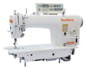 Computer Direct Drive High-Speed Lockstitch Sewing Machine with Mirco Oil pictures & photos
