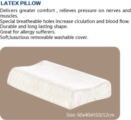 100% Natural Latex Foam Pillow