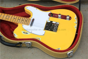 Hanhai Music / Light Yellow Tele Style Electric Guitar with Hardcase pictures & photos