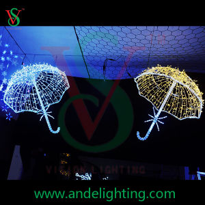 Christmas Street Decoration Hanging 3D Motif Light Umbrella pictures & photos