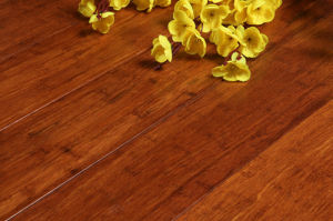 Carbonized Engineered Bamboo Flooring Brushed pictures & photos