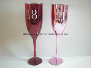 Electroplated Colorful Champagne Glass (B-CP15) pictures & photos