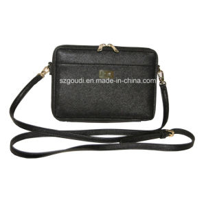 Black Crossbody Tablet Holder Shoulder Bag for Ladies