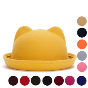 Lady Fashion Cute Plain Knitted Winter Warm Bucket Hat (YKY3234) pictures & photos