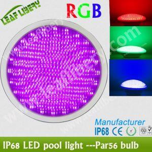 CE RoHS IP68 PAR56 LED Pool Light 18W RGB Color, LED Pool Light