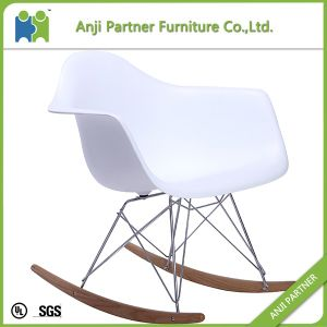 Custom Modern Design Wooden Leg One Piece Silver Plastic Living Chair (John) pictures & photos