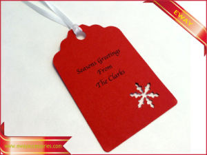 Red Paper Hang Tag Christmas Tag Garment Logo Tag pictures & photos