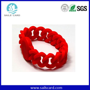 Logo Printing Lf/Hf/UHF Custom Silicone Wristbands pictures & photos