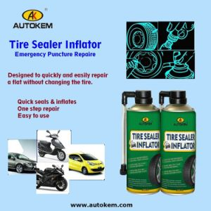 Tire Sealer Inflator Spray Tyre Repair Spray, Tire Sealant and Inflator 400ml/500ml Free Sample pictures & photos