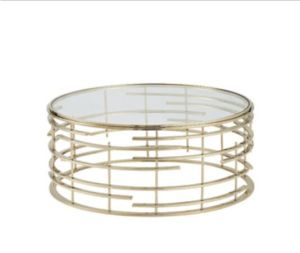 Stainless Steel Golden Coffee Table with Tempered Glass Top pictures & photos