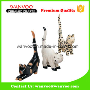 Customized Porcelain Tiger Statue for Home Decoration pictures & photos