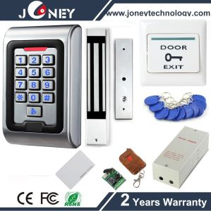 Standalone Metal Keypad RFID Access Control Kit Set System with Exit Button, Power, RFID Card, Magnetic Lock pictures & photos