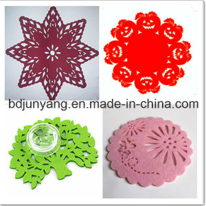 Promotion Logo Printed Top Quality Felt Cup Coasters pictures & photos