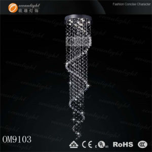 Modern Lighting Chromed Steel K9 Crystal Chandeliers for Home Decorated Om021 pictures & photos