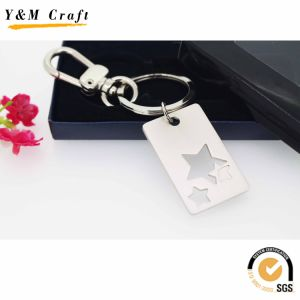Souvenir Gift Zinc Alloy Custom Start Silver Keychain pictures & photos