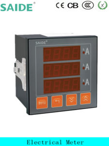 LCD Three -Phase Mounting Digital Display Ammeter pictures & photos