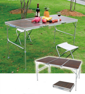 3 Folded Camping Party Folding Picnic Table with MDF Surface (MW12023) pictures & photos