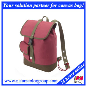 Canvas Book Bag School Backpack Student Backpack pictures & photos