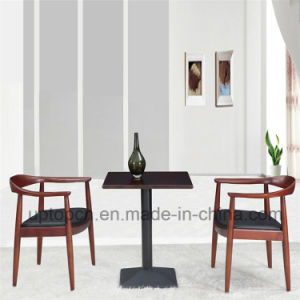 Upholstered Wooden Dining Table and Chair with Leather (SP-CT627) pictures & photos