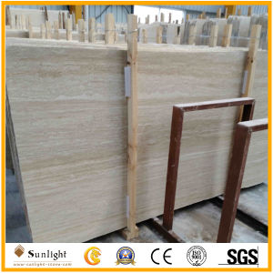Filled Polished Surface Golden/Cream Travertino/Travertine for Pavers, Slabs Floor Tiles pictures & photos