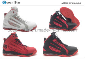 New Arrival Basketball Sports Shoes with Leather Upper and Confortable MD Outsole pictures & photos