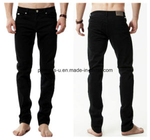 High Quality Men Slim Straight Stretch Leisure Jeans pictures & photos